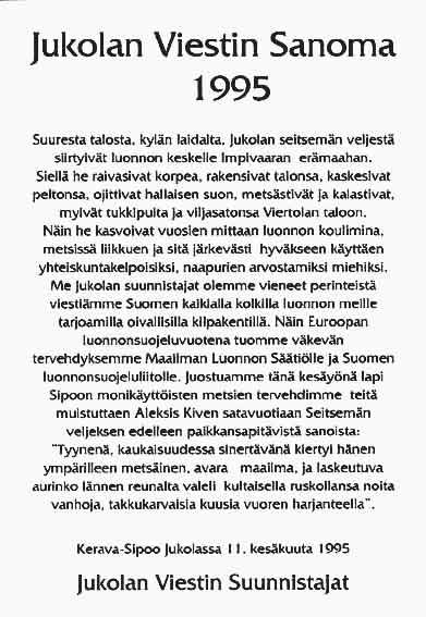 Jukolan viestin sanoma 1995