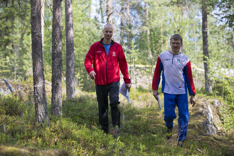 Napapiiri-Jukolan pääratamestarit Mikko Rapakko ja Kimmo Määttä
